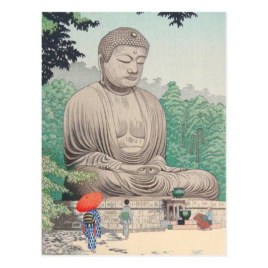The Great Buddha at Kamakura FUJISHIMA TAKEJI Postcard