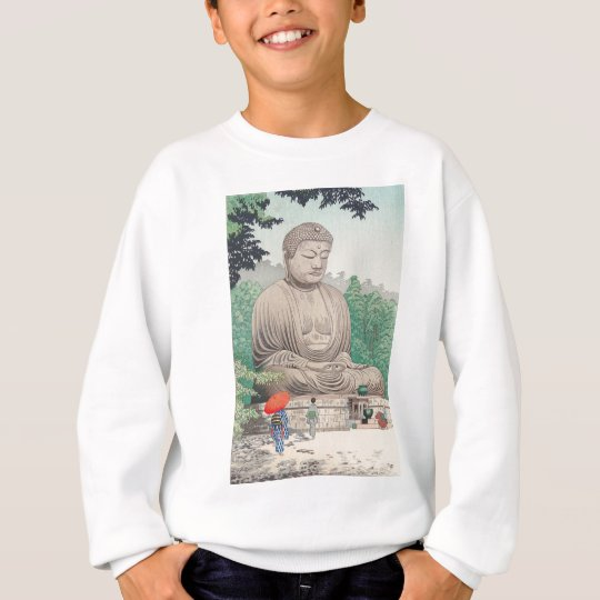 The Great Buddha at Kamakura FUJISHIMA TAKEJI Sweatshirt