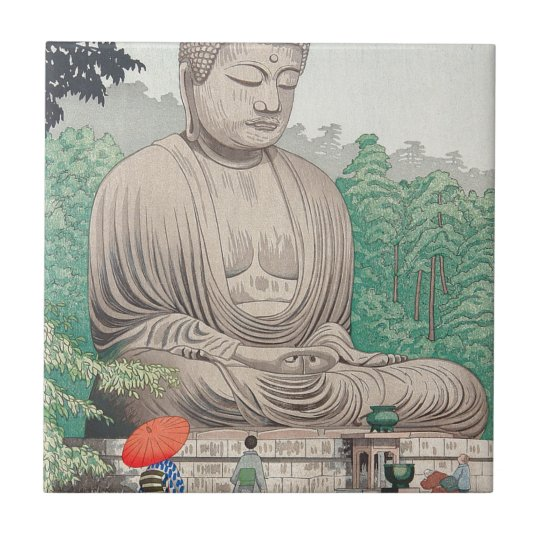 The Great Buddha at Kamakura FUJISHIMA TAKEJI Tile