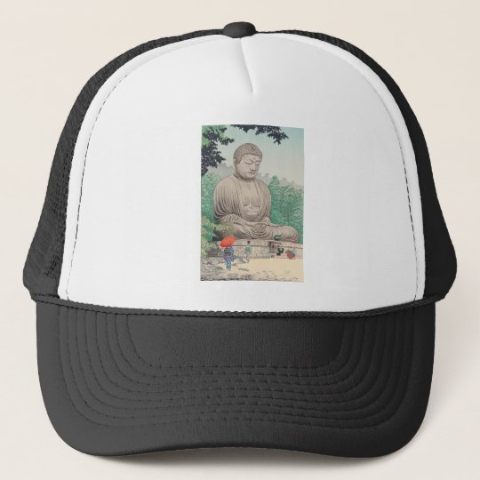 The Great Buddha at Kamakura FUJISHIMA TAKEJI Trucker Hat