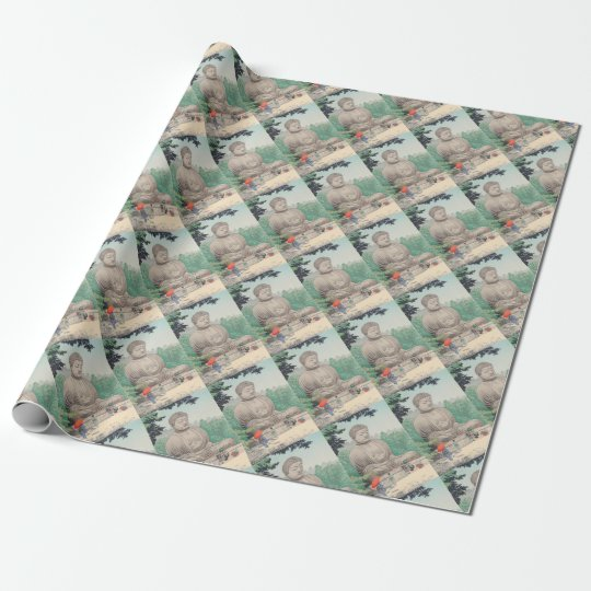 The Great Buddha at Kamakura FUJISHIMA TAKEJI Wrapping Paper
