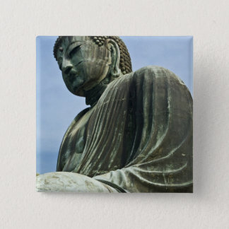 The Great Buddha of Kamakura also known as 2 Inch Square Button
