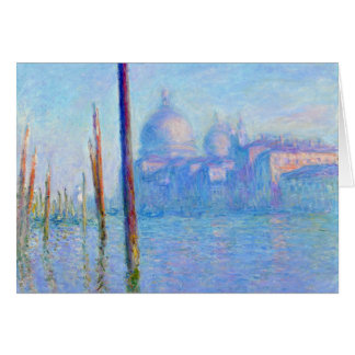 The Great Canal, Venice - Claude Monet Card