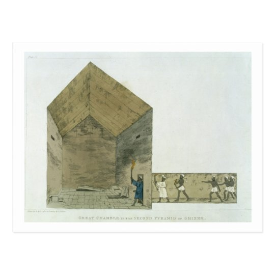 The Great Chamber in the second pyramid of Ghizeh, Postcard