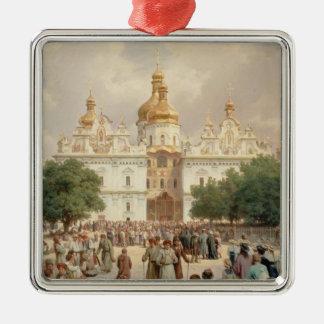 The Great Church Silver-Colored Square Ornament