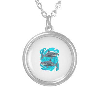 The Great Circle Silver Plated Necklace