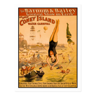 The Great Coney Island Water Carnival 2 Postcard