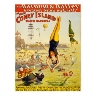 The Great Coney Island Water Carnival Postcard