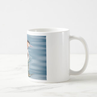 The Great Crested Grebe on water Coffee Mug