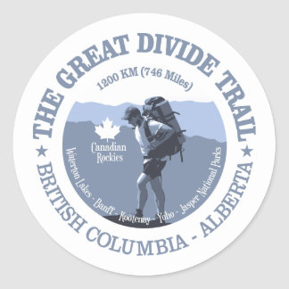 The Great Divide Trail Classic Round Sticker