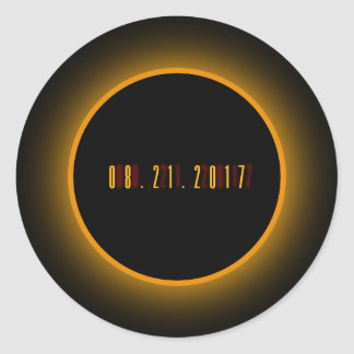 The Great Eclipse 08.21.2017 Classic Round Sticker