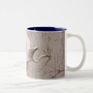 The Great Egret Black 11 oz Two-Tone Mug