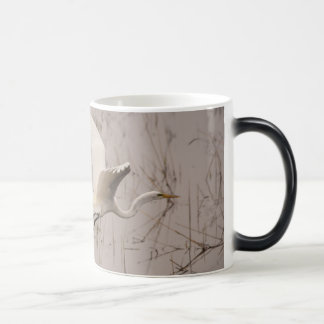 The Great Egret Black/White 11 oz Morphing Mug