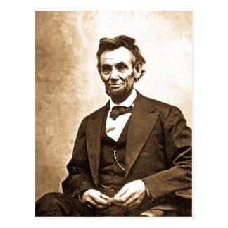 The Great Emancipator - Abe Lincoln 1865 Postcard