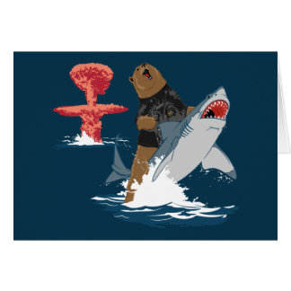 The Great Escape - bear shark cavalry Greeting Cards