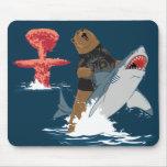 The Great Escape - bear shark cavalry Mousepads