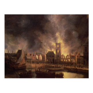 The Great Fire in the Old Town Hall, Amsterdam Postcard