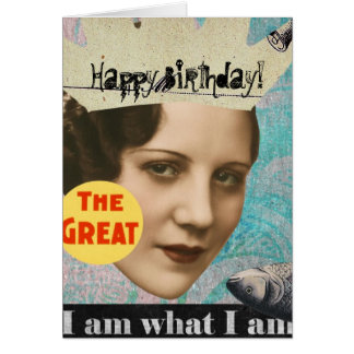 The Great Fish Queen Collage, Birthday Card