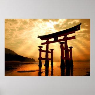 The Great Gateway at Miyajima Poster