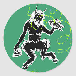The Great God Pan Classic Round Sticker