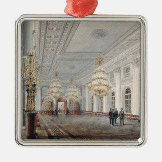 The Great Hall, Winter Palace, St. Petersburg Silver-Colored Square Ornament