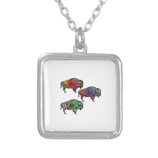 THE GREAT HERD SILVER PLATED NECKLACE
