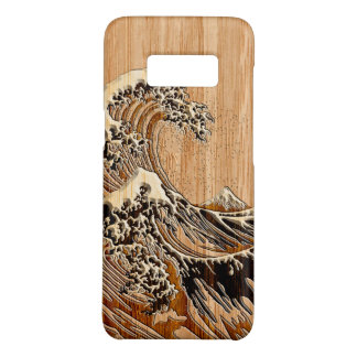 The Great Hokusai Wave Bamboo Wood Inlay Style Case-Mate Samsung Galaxy S8 Case