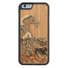 The Great Hokusai Wave Bamboo Wood Style Carved Maple iPhone 6 Bumper Case