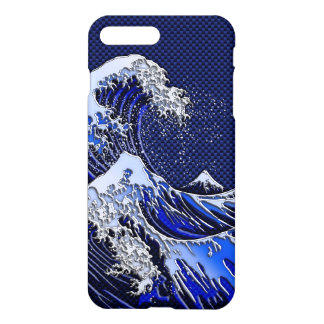 The Great Hokusai Wave chrome carbon fiber styles iPhone 8 Plus/7 Plus Case