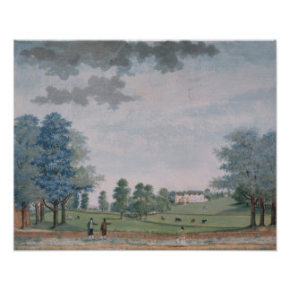 The Great House and Park at Chawton, c.1780 Poster