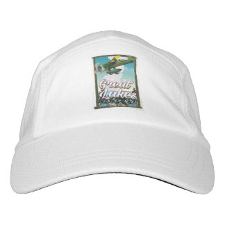 The Great Lakes plane travel poster Hat