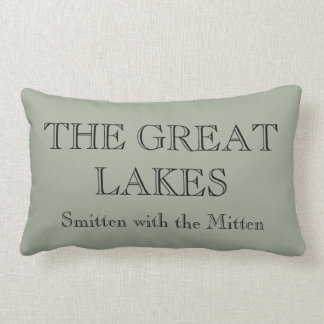 The Great Lakes -smitten with the Mitten Lumbar Pillow
