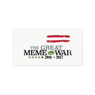 The Great Meme War 2016-2017 18x stickers Labels