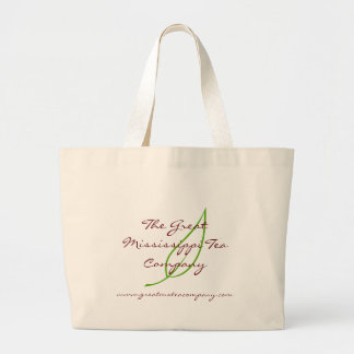 The Great Mississippi Tea Company Jumbo Tote Canvas Bags