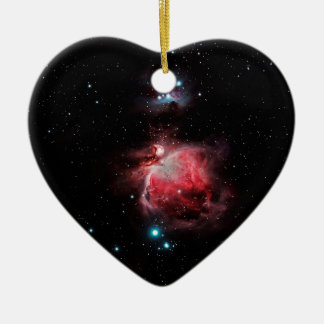 The Great Nebula in Orion Ceramic Heart Ornament