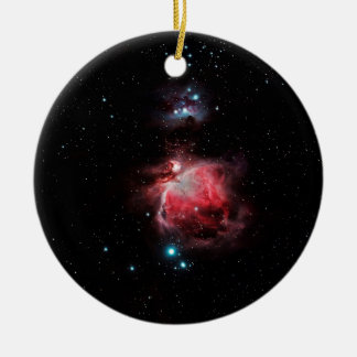 The Great Nebula in Orion Round Ceramic Ornament