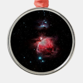 The Great Nebula in Orion Silver-Colored Round Ornament
