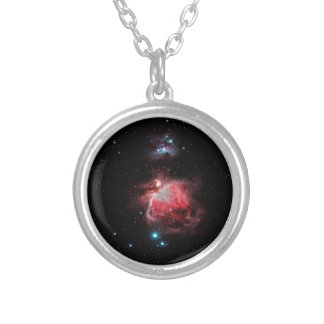 The Great Nebula in Orion Silver Plated Necklace