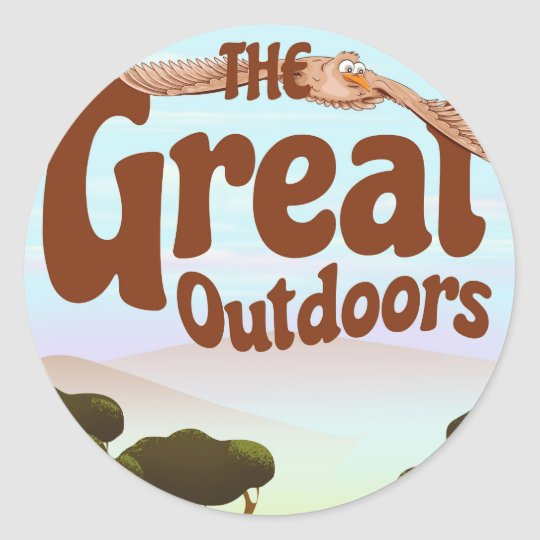 The Great Outdoors Classic Round Sticker