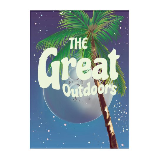 The Great Outdoors Palm and Moon Acrylic Print