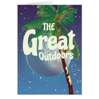 The Great Outdoors Palm and Moon Card