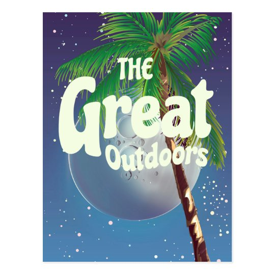 The Great Outdoors Palm and Moon Postcard