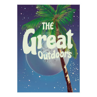 The Great Outdoors Palm and Moon Poster