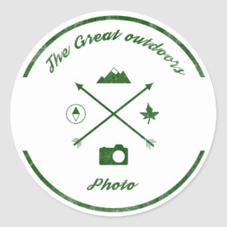 The Great Outdoors Photo Circle Sticker