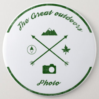 The Great Outdoors Photo Rustic Button