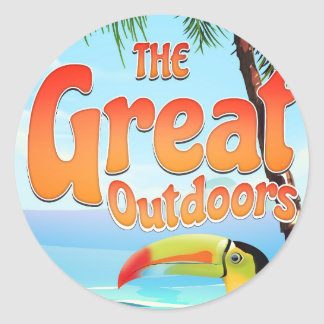 The Great Outdoors Toucan Classic Round Sticker