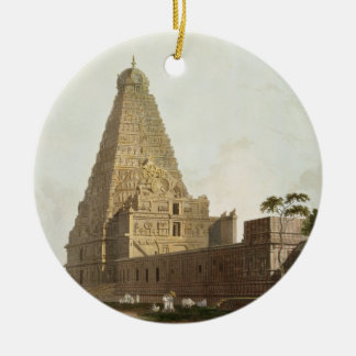 The Great Pagoda, Tanjore, plate XXIV from 'Orient Round Ceramic Ornament