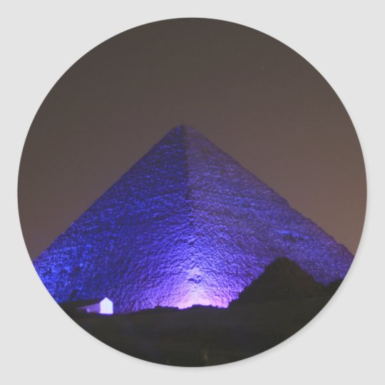 The Great Pyramid Classic Round Sticker