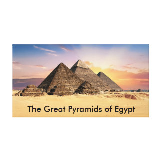 The Great Pyramids of Egypt Canvas Print