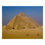 The Great Pyramids of Giza, Egypt Poster